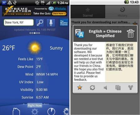 Aplicaciones viajeras Android