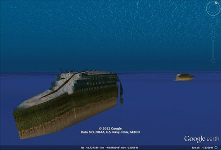 Explorando el Titanic a través de Google Earth en 3D