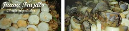 Preparación de los huevos guisados a la marinera