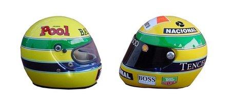 10 años de cascos (réplicas) de Ayrton Senna