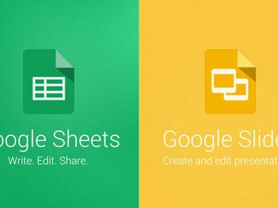 Google Sheets y Slides se actualizan con mayor soporte para otros formatos
