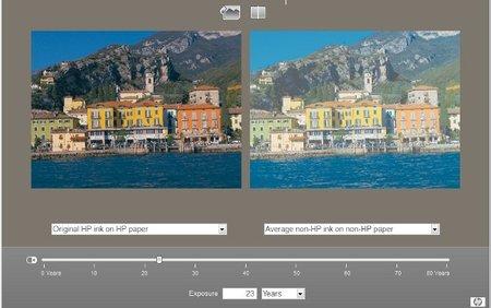 Degradación de imágenes con tintas no originales
