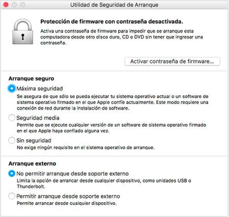 Utilidad De Seguridad De Arranque Mac™ Chip T2