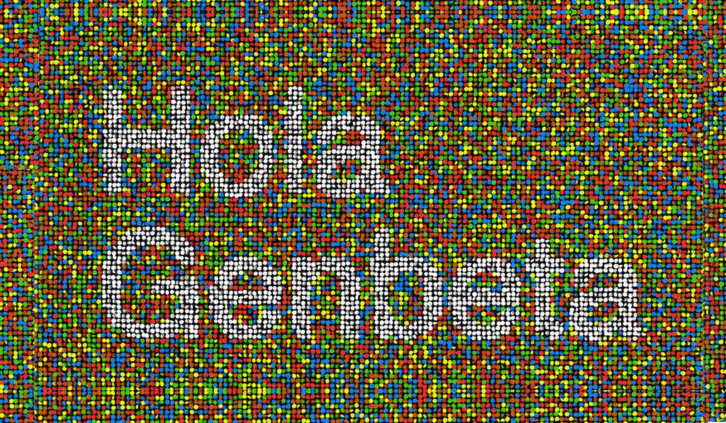 Convierte cualquier imagen o palabra en una animación 3D hecha con caramelos