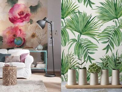 11 ideas para una decoración mural con motivos vegetales