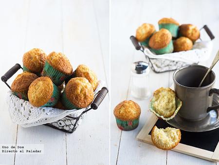 Magdalenas de limón con copete, receta clásica para desayunos y meriendas