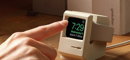 elago W3 Stand es el dock para Apple Watch que lo convierte en un adorable mini Macintosh 128K