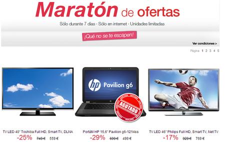 'El Corte Inglés' tiene maratón de ofertas, pero solo en compras online