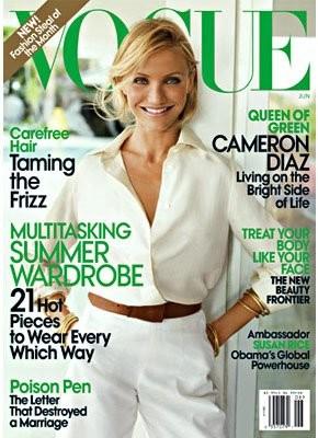 Naturalidad, frescura y aires de verano en Vogue USA con Cameron Diaz