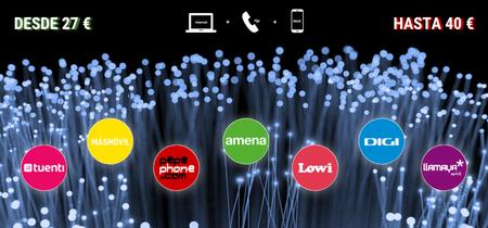 Comparativa de los mejores combinados de fibra y móvil por menos de 40 euros