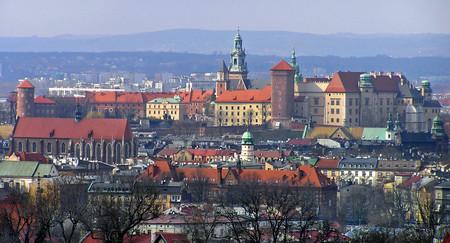 Krakow Wawel From Kopiec Krakusa