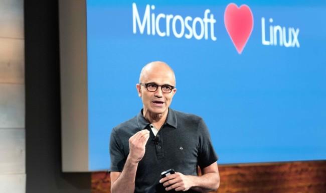 Satya Nadella Microsoft Linux-OS 2 930x550