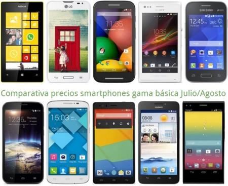 Comparativa precios Xperia M, Young 2, Huawei G630 o LG L65 entre otros móviles gratis en verano