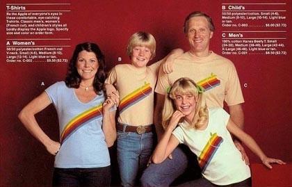 Camisetas Apple de los 80