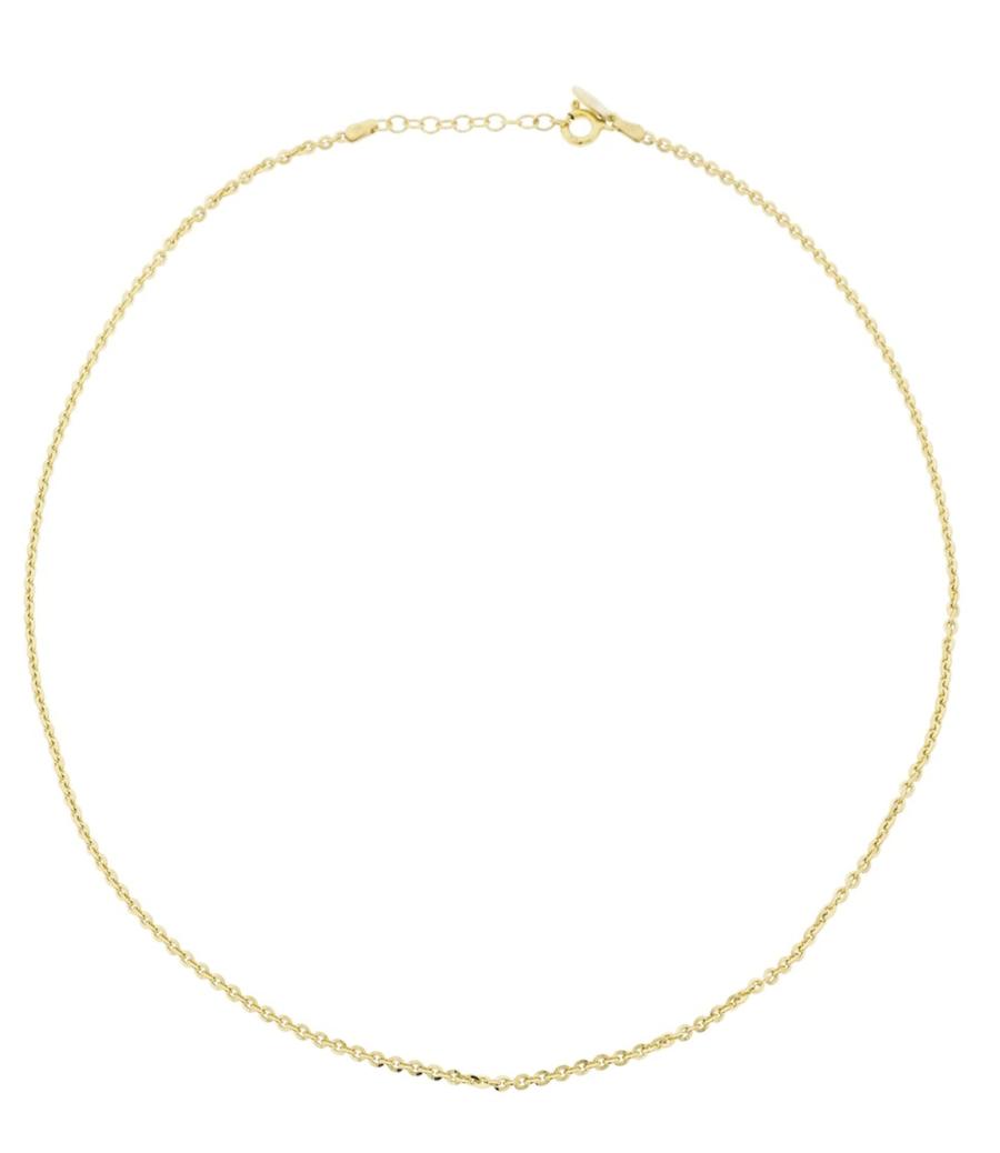 Cadena Eguzkilore de plata dorada de primera ley modelo Forza