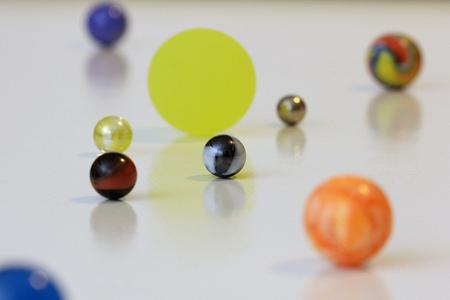 Experimento con planetas basado en la Teoría Heliocéntrica
