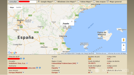 Localizar IP en mapa · Geolocalizar IP