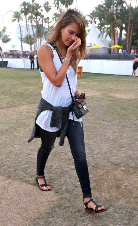 Jessica Alba Coachella 2013