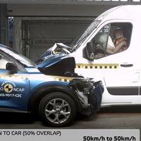 Euro NCAP estrella una Nissan NV400 contra un Juke y la añade a la lista de furgonetas que no recomienda comprar