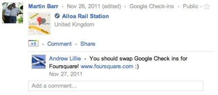 Google+ competirá con Foursquare centralizando sus check-ins e incluyendo descuentos