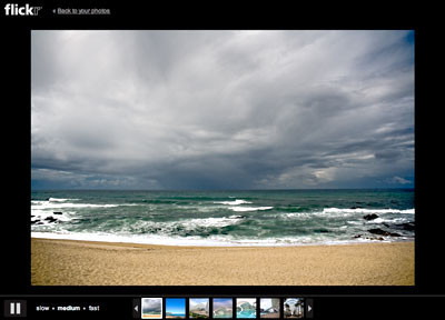 Presentaciones a pantalla completa de Flickr