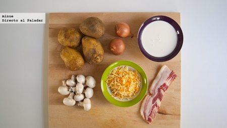 Patatas a la carbonara - ingredientes