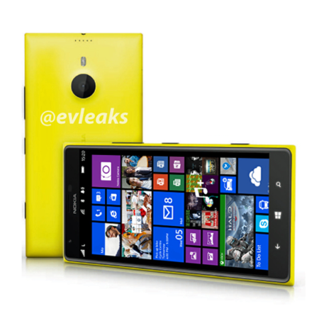 Primer render de Nokia Lumia 1520 publicado por evleaks