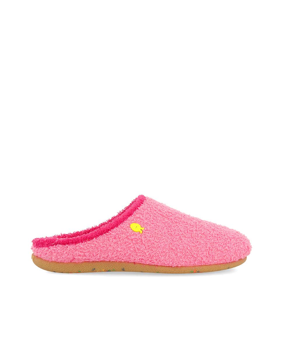 Zapatillas de casa de mujer Hot Potatoes en color rosa de tejido jersey