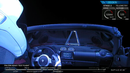 Tesla Roadster Espacio Starman Maniqui