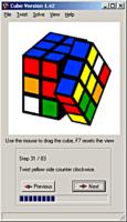 Solución al cubo de Rubik en un programa