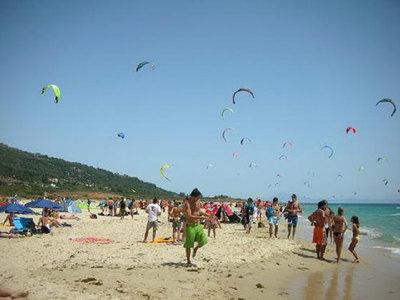 Tarifa: arena blanca, windsurf y campings