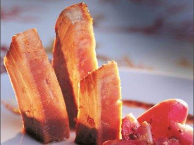 Cenas proteicas, rápidas y fáciles: Tataki de atún con rabanitos (I)