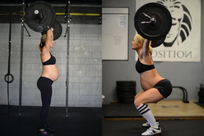 Levantando pesas durante el embarazo