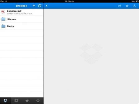 Dropbox para iOS se actualiza y estrena nueva interfaz.