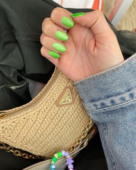 Chiara Ferragni Nail Art Velvet Green 02