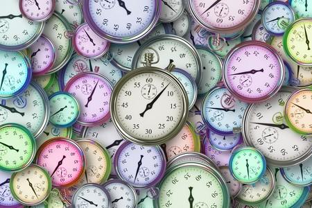 Relojes de diferentes colores