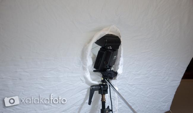 Flash Nikon con ventana paraguas
