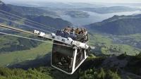 Suiza: hermosas panorámicas desde un teleférico descapotable