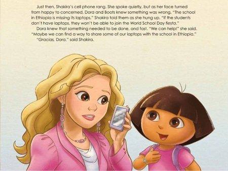 Shakira se une a Dora la Exploradora en su primer libro infantil