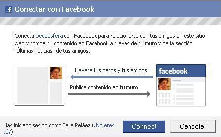 Conéctate a Decoesfera con tu cuenta de Facebook