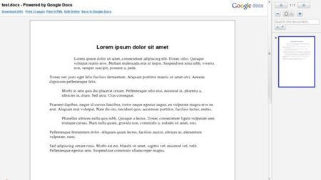 Gmail muestra archivos DOC y DOCX desde Google Docs Viewer