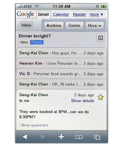 Novedades en Gmail para Android e iPhone: almacenamiento local y barra flotante