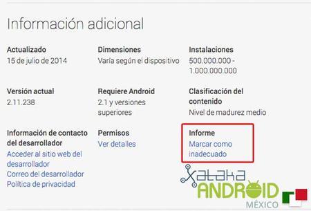 Google Play ahora permite marcar las apps como inadecuadas