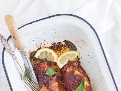 Paupiette de jamón serrano y pollo con ricotta. Receta para una cena diferente