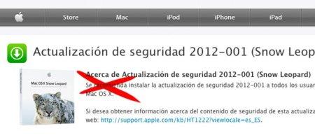 La actualización de seguridad 2012-001 de Snow Leopard causa problemas con las aplicaciones PowerPC