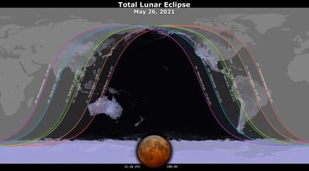 Eclipse Luna Mexico Hora Nasa Luna Sangre