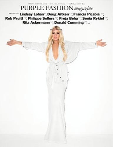 La portada religiosa de Lindsay Lohan para Purple Magazine