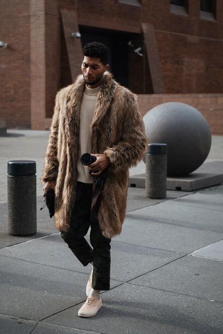 El Mejor Street Style De La Semana Trendencias Hombre Faux Fur Men Fall Winter 2019 03
