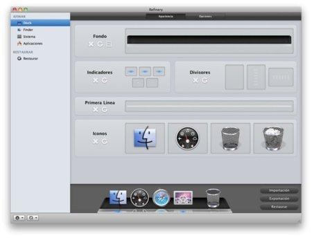 Refinery, otro programa para personalizar tu Mac