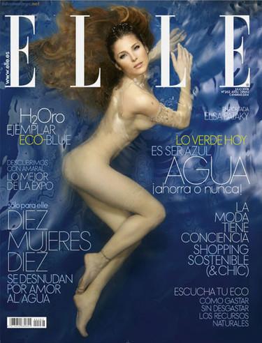 """Elsa Pataky desnuda """"por amor al agua"""""""